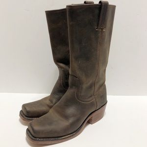 Frye Cavalry 12L Rugged Leather Cowboy Boot